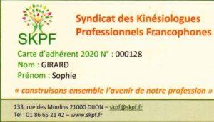 Carte adhérent SKPF